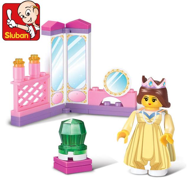 Free shipping.  Sluban 29pcs/set girl's dream assembly model building blocks Children enducatioal toy