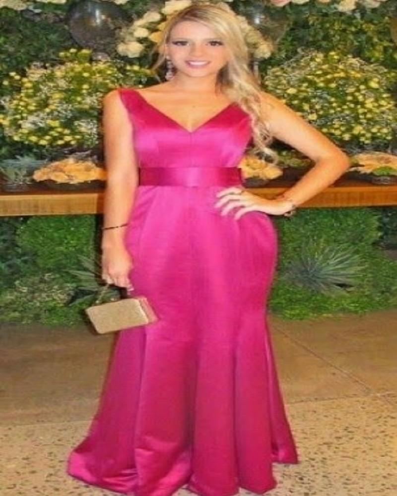 Fantástico Vestido De La Dama De Honor De Color Embellecimiento ...