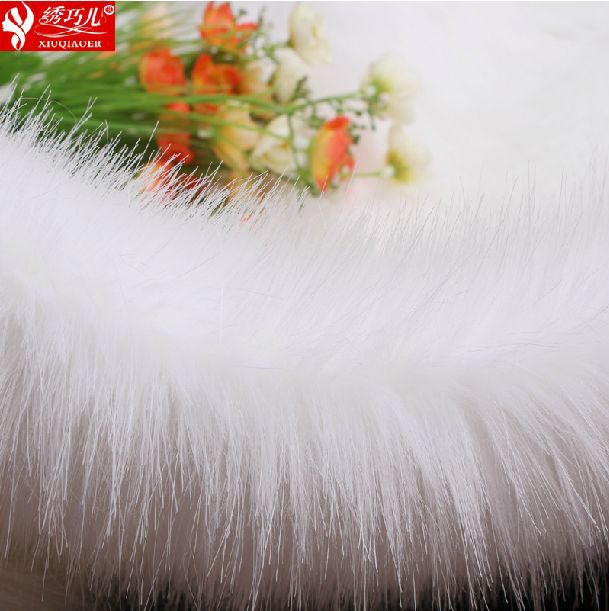 Half a meter price 5cm solid imitation fox fur collar fluffy plush fabric grass upscale leather clothing