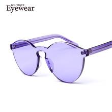 NEW Transparent frame WOMEN brand circle Colorful Coating SUNGLASSES fashion men fashion glasses Good quality   oculos de sol