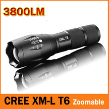 CREE XM-L T6 3800 Lumens LED Flashlight 5-Mode LED Torch E17 Zoomable Waterproof Flashlight by 1*18650 or 3*AAA 100% Authentic (China (Mainland))
