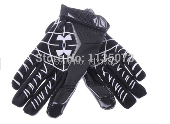 Best high quality STARS-R22 Genuine Leather gloves white black S M L XL XXL American Football Gloves slippery rugby gloves(China (Mainland))