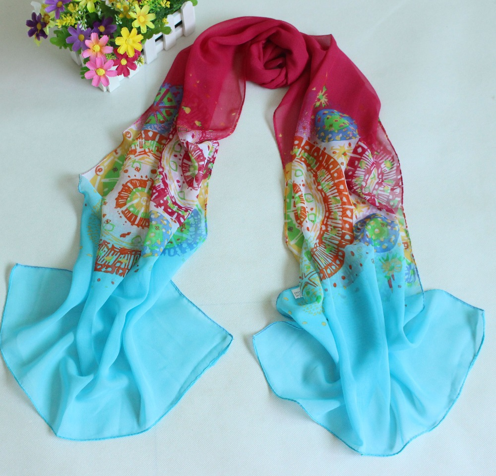 Min Order 5 New Fashion Style Scarves Women S Scarf Long Shawl Spring Cape Silk
