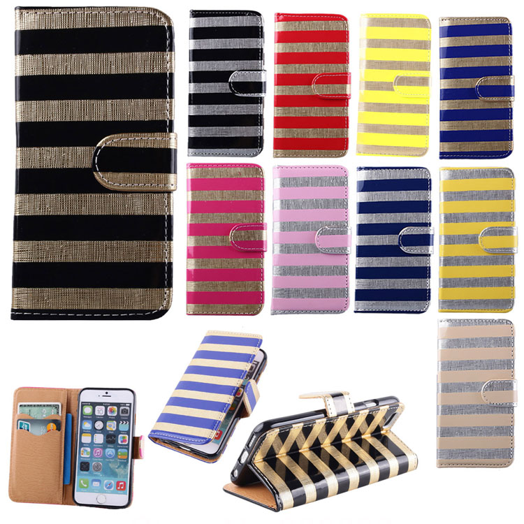10 Colors Zebra Print Design Leather Card Holder Pouch Wallet Case Cover Skin For Apple iPhone 6 4.7 inch(China (Mainland))
