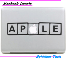 Buy Apple Logo Text Symbol Creative Local Decal Macbook Skin Air 11 13 Pro 13 15 17 Inchs Retina Laptop Vinyl Spoof Sticker for $4.58 in AliExpress store