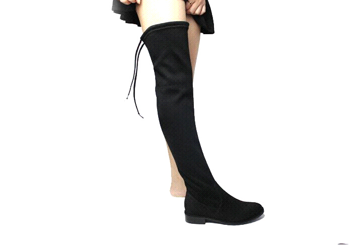 Over The Knee Boots With Lace Up Back