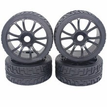 Buy 4pcs 1/8 Buggy Tires & Wheel Rims 17mm Hub Fit Road RC Car HPI Losi HSP BAZOOKA CAMPER for $13.14 in AliExpress store