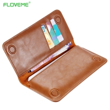 Buy FLOVEME Genuine Leather Wallet Pouch Case iphone 7 6s Plus, Real Leather Phone Pouches Samsung Galaxy S6 S7 Cover Card for $8.35 in AliExpress store