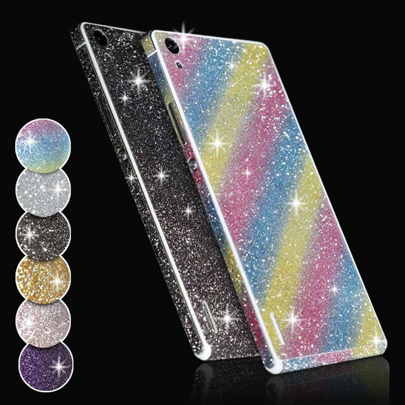 P7 Full Body Glitter Sticker Case for Huawei P7 HOT NEW Shiny Sparkling Colors Skin Decal Matte Protective Film Phone Case Cover(China (Mainland))