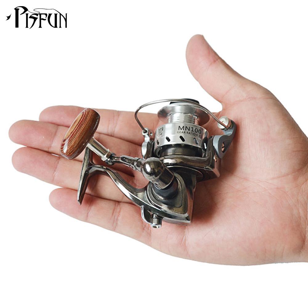 Pisfun mn100 mini spinning reel 4 3 1 ice fishing reels for Mini fishing reel