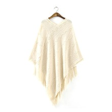 Women Batwing Cape Poncho Knit Top Pullover Sweater Coat Outwear Jacket Hot Sale(China (Mainland))