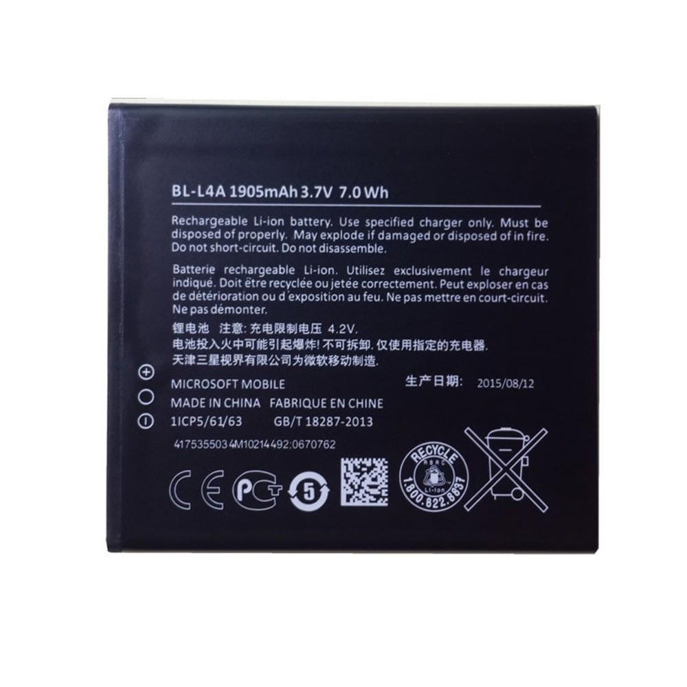 100% New Original Phone Battery BL-L4A BLL4A 1905mAh For Microsoft Nokia Lumia 535 RM-1090 RM-1089 Dual 830 RM-984 Top Quality(China (Mainland))