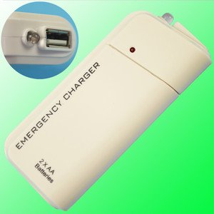 Free Shipping 2 in 1 AA Battery USB Emergency Charger With Flashlight For iPhone 4G iPod(China (Mainland))