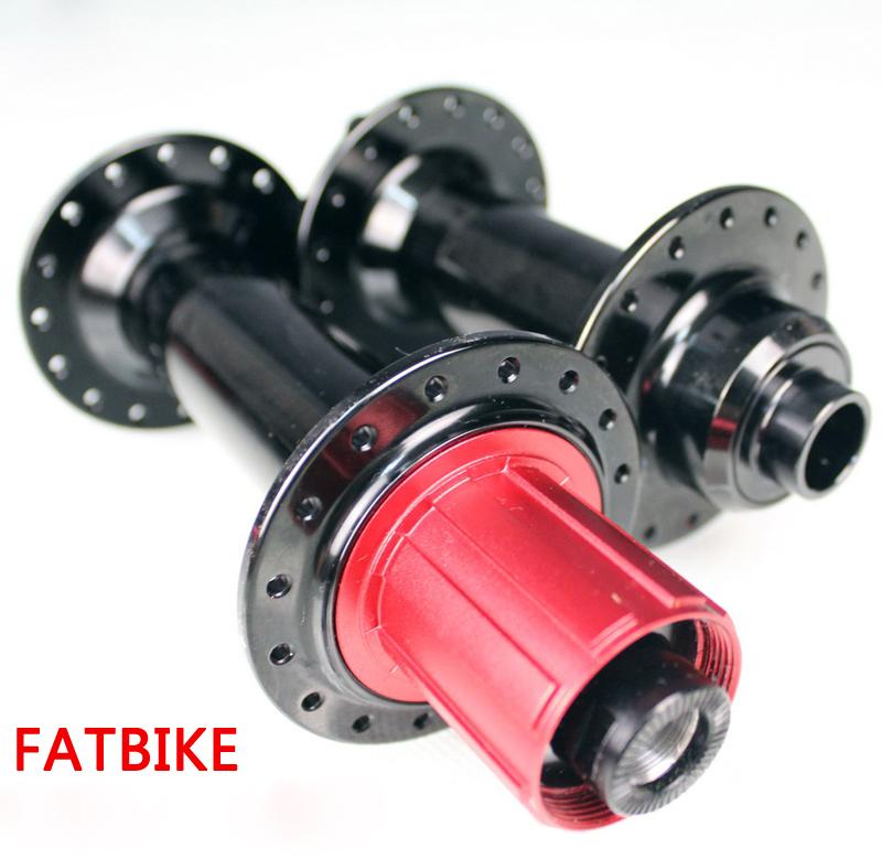 Fat Bike Hubs 32 holes Black Red color Bearing V brake front 15*135mm rear 12*170/190/197mm fatbike bicycle hubs<br><br>Aliexpress