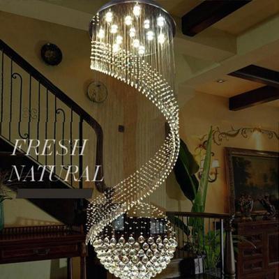2015 neues element moderner led kristall kronleuchter hei er verkauf spirale treppe hause. Black Bedroom Furniture Sets. Home Design Ideas