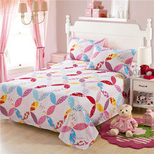 Pink Princess Type Studenr/Adult/Child100%Cotton Cartoon Style Bedding Sets Sheeet Set Bed Sheet Bed Linen Pillowacse Set (China (Mainland))