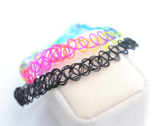 New fashion jewelry Stretch Fishing Line Tattoo choker necklace gift for lovers wholesale mix color N1531