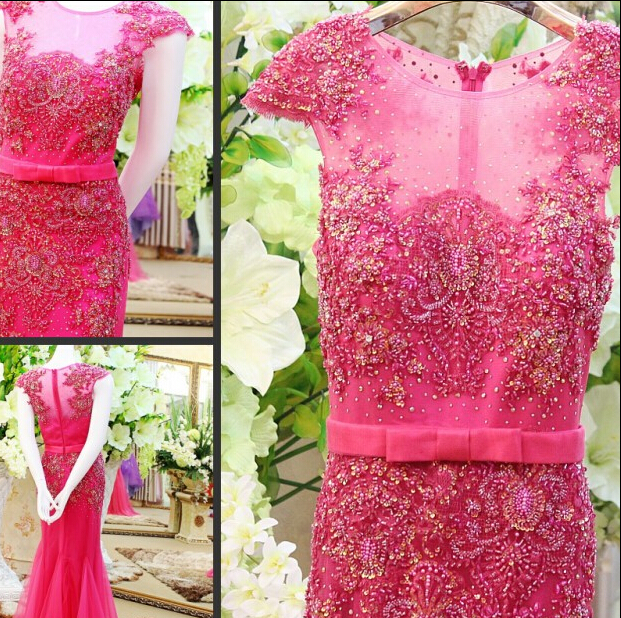 caftan party floor length sleeveless luxury beading o neck long crystal line formal red evening dresses 2015