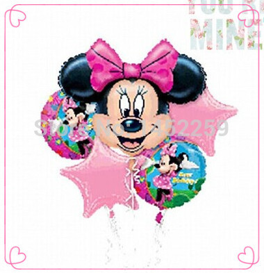 / lots foil balloons Minnie pentacle suit children's toys birthday party balloon decoration - Party NO: 1 store