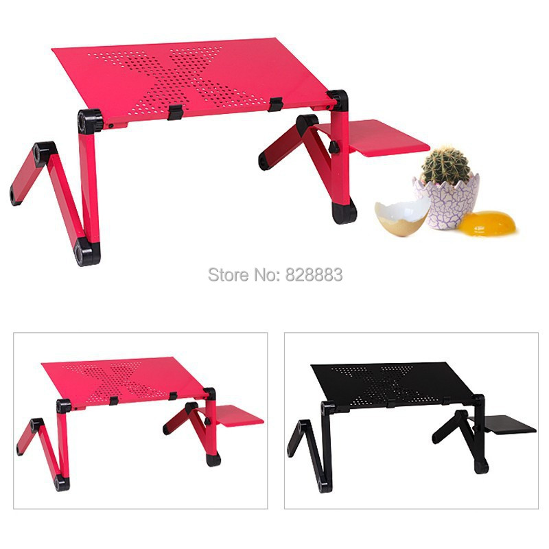 New MultiFunctional Large Folding Laptop Table/Notebook Stand Desk Bed Sofa Tray 360 rolling Adjustable Portable notebook Desk(China (Mainland))