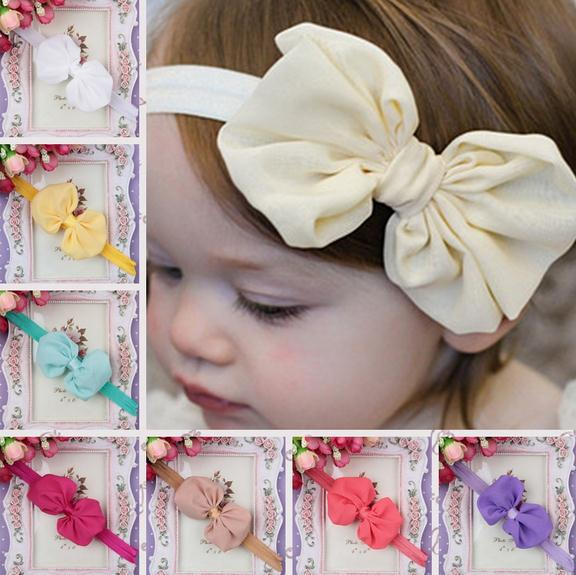10 pcs/lot 2015 Wholesale Baby Girl Headband Head wrap Newborn Toddler Bow Knot Hair Band Hair Accessories Free Shipping(China (Mainland))