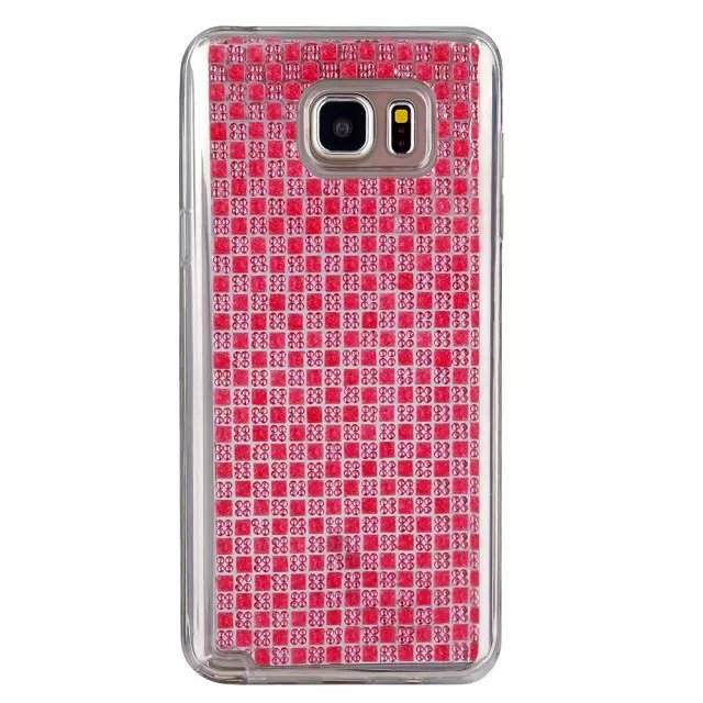Optional Hot Sale In Stock Gem Diamonds Shining Gel TPU Silicone Case Fashion High Quality For Samsung Galaxy Note5 N920(China (Mainland))