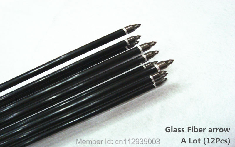 6Pcs High quality removable fiber glass arrow for bow hunting archery arrow turkey feather competition arrow