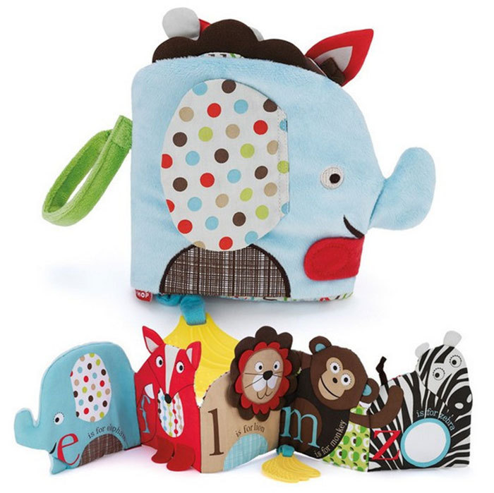 Baby Infant Elephant Sun Cloth Book Toy Musical Doll Early Development Learning & Education(China (Mainland))
