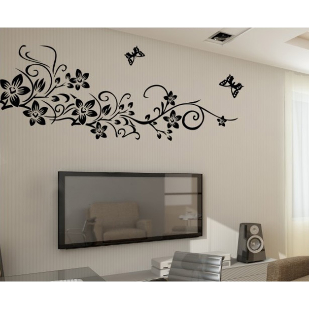 Buy free shipping 1pcs home decor for Butterfly wall mural