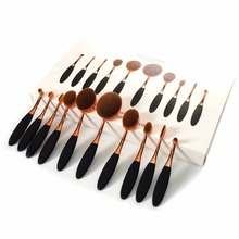 Buy 10 Piece Oval Makeup Brush Set Cosmetic Foundation Cream Powder Synthetic Brushes Tools Foundation Liquid Cosmetics Oval Brush for $13.56 in AliExpress store