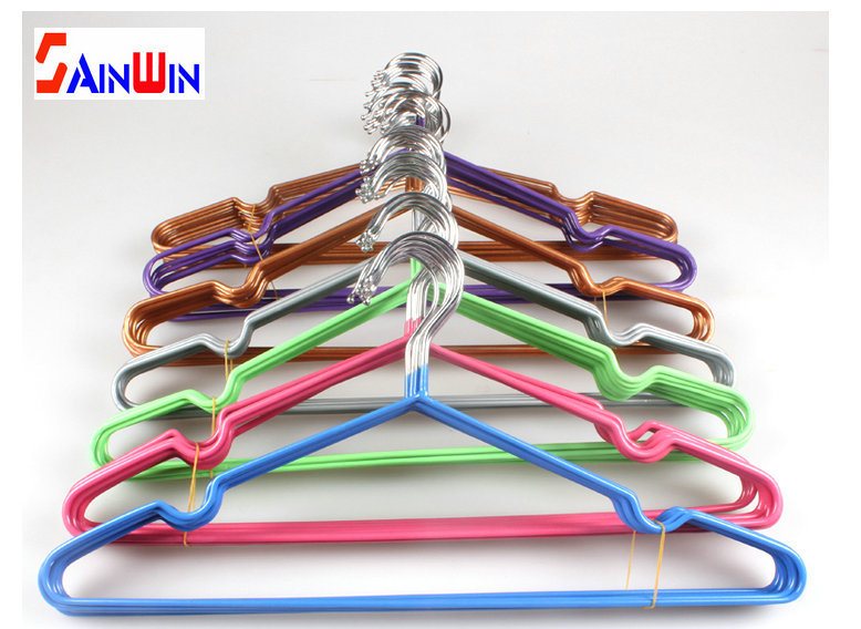 Sainwin 10pcs/lot 40cm Anti-skid Plastic Hangers For Clothes Pegs Wire Antiskid Drying Clothes Rack Suit Coat Dress Bra Hanger(China (Mainland))