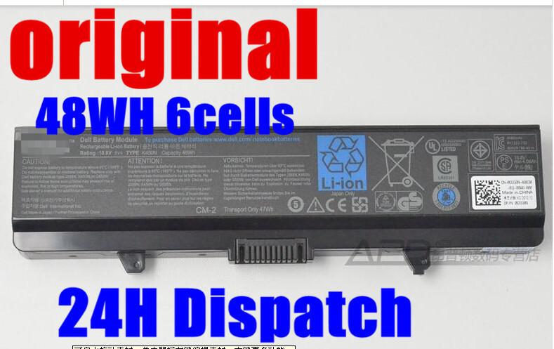 original laptop Battery For Dell Inspiron rn873 1525 1526 1545 1546 1750 GW252 GW240 GP952 PP42L PP29L PP41L K450N D608H RU583(China (Mainland))