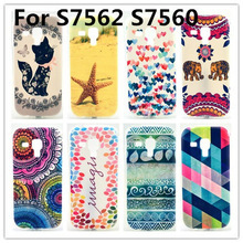 Ultra Thin Soft TPU Art Pattern Case cover For Samsung Galaxy Trend Plus S Duos S7562 S7580 S7560 7562 7560 Phone Cases Covers(China (Mainland))
