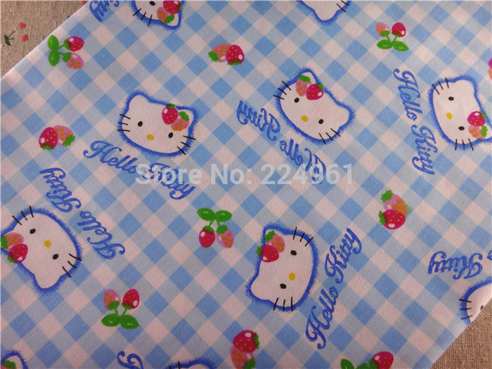 New arrival 150cm*150cm Hello Kitty 100% Cotton Fabric for Sewing Patchwork Bedding Fabric DIY Baby Cloth Textiles 15010328(China (Mainland))
