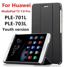 Buy Case Huawei MediaPad T2 7.0 Pro Smart cover PU Leather Protective Tablet HUAWEI Youth PLE-701L PLE-703L Case Protector for $7.46 in AliExpress store