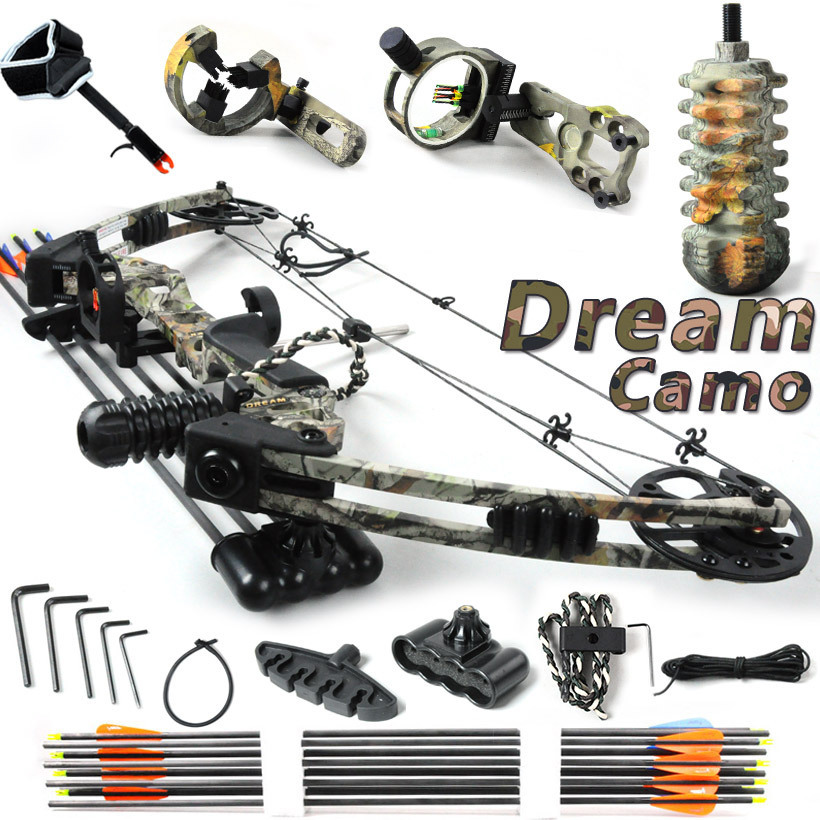 Free shipping,Dream,Camo,20-70lbs adjustable,Black and Camouflage,hunting compound bow, bow and arrow,China Archery set<br><br>Aliexpress