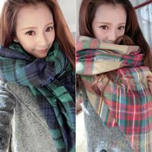 High Quality Lady Women Blanket Oversized Tartan Scarf Twine Shawl Plaid Cozy Checked Pashmina