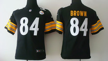 All stitched Youth Pittsburgh Steelers Kids children,32 Franco Harris 83 Heath Miller 84 Antonio Brown(China (Mainland))
