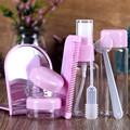 8pcs Portable Travel Cosmetics Set Cream Bottles Spray Bottle Mirror Hair Comb for Women Girls Lady