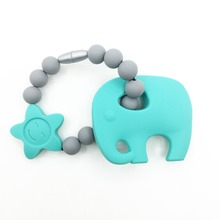 Buy silicone elephant pendant Beads -silicone Baby Carrier Teething Accessory -baby teething toys-BPA free Silicone Teether elephant for $6.29 in AliExpress store