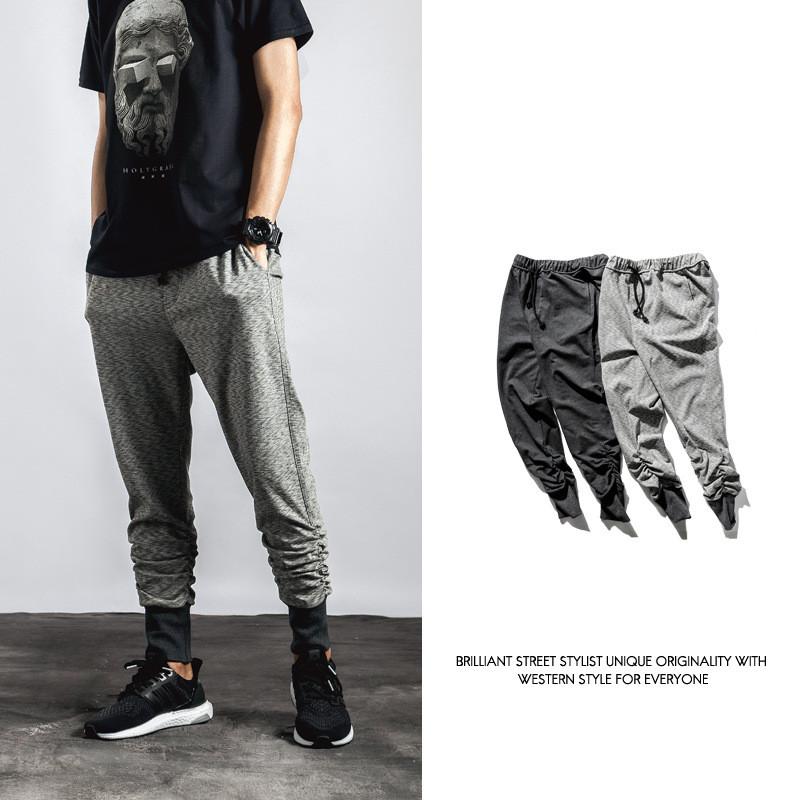 Men Elastic legs pedal joggers pants Casual Mens Sweatpants hip hop Trousers pantalon sport homme Outdoor jogging gym clothingОдежда и ак�е��уары<br><br><br>Aliexpress