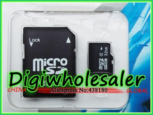 10pcs/lot 32gb TF SD Card Micro SD Card 32gb Class 10 8gb 16gb 32gb 64GB 128GB memory Flash Mini card with adapter free shipping(China (Mainland))