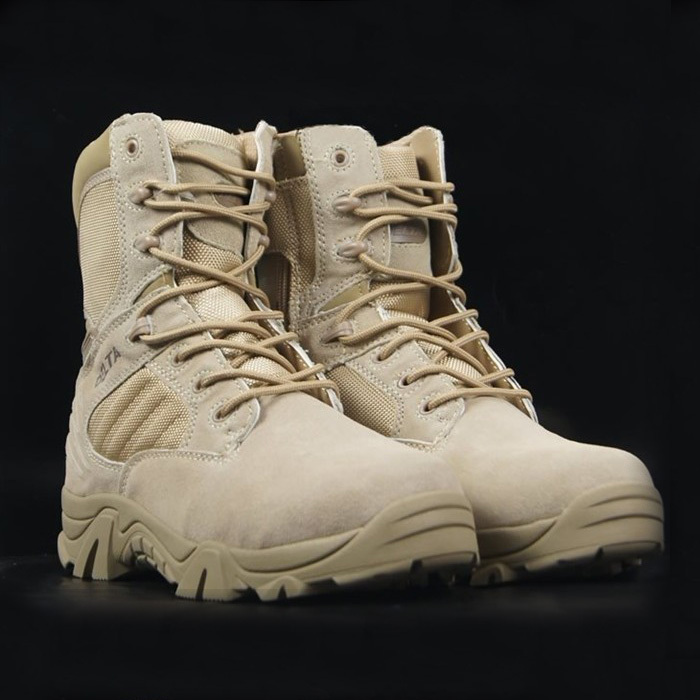 U.S.Delta Men's Lace Up Breathable DESERT Hiking boots Army Military Boots Tactical Combat Boots Free shipping(130719)(China (Mainland))