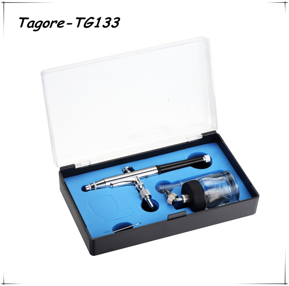 Tagore TG133(40PCS) New Fashion 0.3MM 140MM Dual Action Siphon Feed Body Paint Tanning Airbrush Pen with 20cc Glass Jar<br><br>Aliexpress