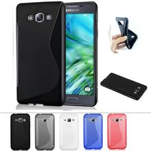 Soft S Line TPU Silicone Rubber Transparent Cover Case Samsung Galaxy A3 A5 A7 A8 A9 J1 J3 J5 J7 Cases Shockproof Gel Skin - Atom Technology Co., Ltd. store