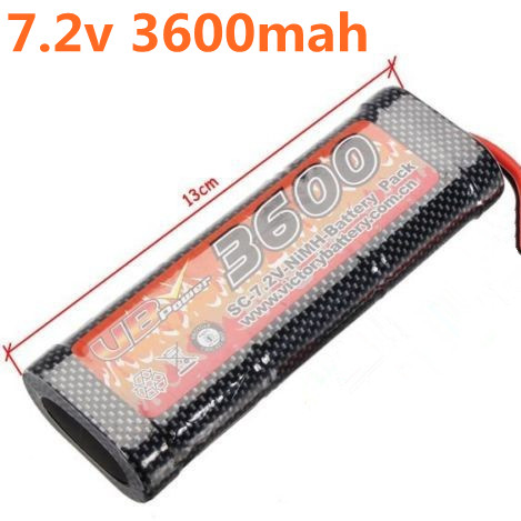 VB Power SC 7.2V 3600MAH NiMH Battery Pack For 1/8 1/10 Scale RC Racing Cars Truck Boats Tank Recharge RC Battery(China (Mainland))