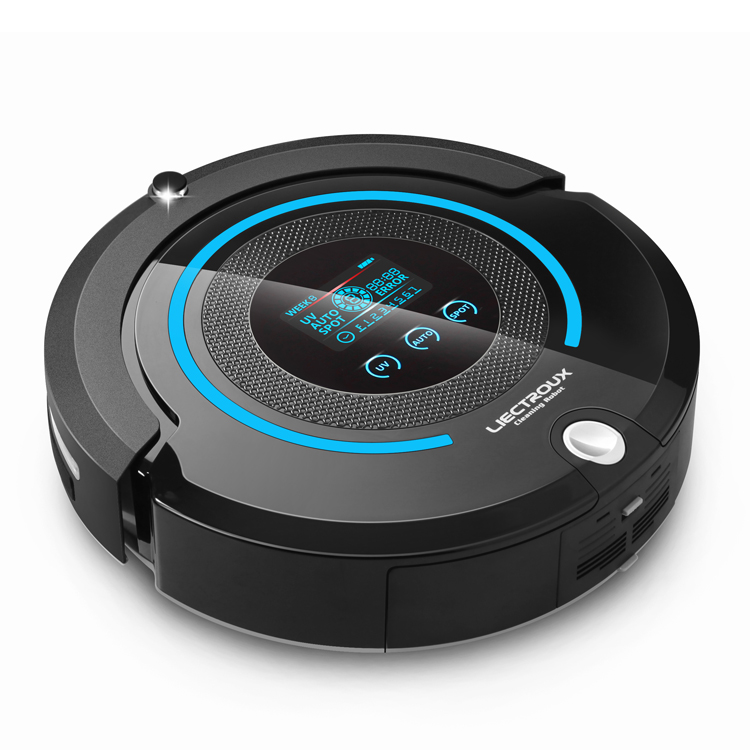 2016 Newest Most Advanced Auto Robot Vacuum Cleaner (Sweep,Vacuum,Mop,Sterilize) With Remote control, LCD touch screen, schedule(China (Mainland))