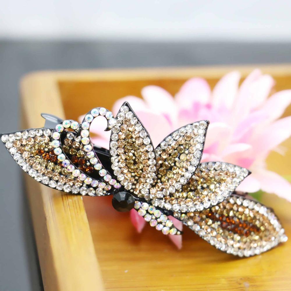 34*91mm Korean style Flowers Wedding Headdress Headband Head Bands Hairpin Hair band Inlaid Rhinestone Jewelry Making(China (Mainland))