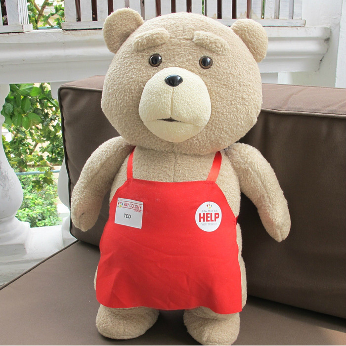 2015 Movie Teddy Bear Ted 2 Plush Toys In Apron 48CM Soft Stuffed Animals Ted Bear Plush Dolls(China (Mainland))