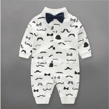 Fashion Newborn rompers gentleman Baby boy Romperbranded Newborn baby clothes doll long Sleeve Baby boy Clothes birthday
